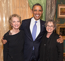 Dr. Gartrell with President Obama and Dee Mosbacher